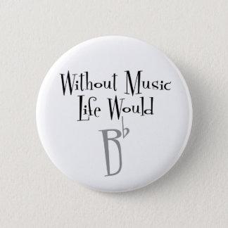 B Flat Round Button