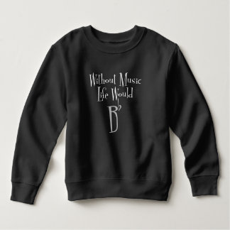 B Flat Toddler Dark Sweatshirt