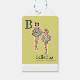 B for Ballerina Gift Wrap Gift Tags