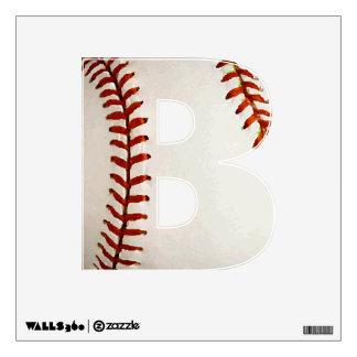 B for Baseball Wall Decal