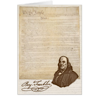 B. Franklin: Liberty & Country - Greeting Card