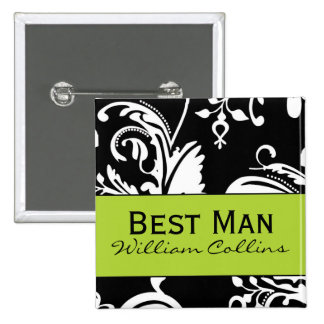 B&G Square Best Man Button