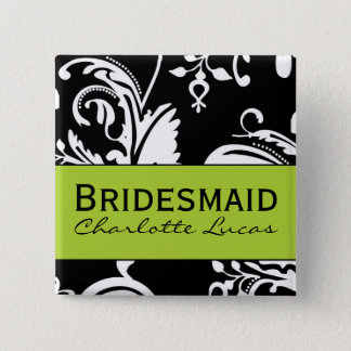 B&G Square Bridesmaid Button
