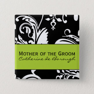B&G Square Mother of the Groom Button