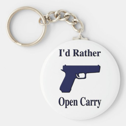 b I d Rather Open Carry b Key Chain