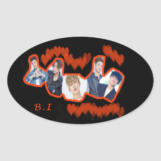B.I Love Oval Sticker