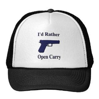 <b>I'd Rather Open Carry</b> Trucker Hat
