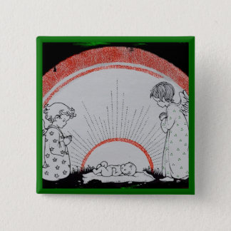 B if for Baby Jesus 2 Inch Square Button