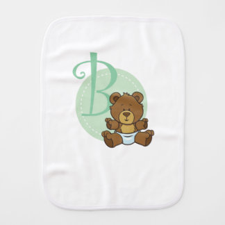B is for a Bear Burp Cloth