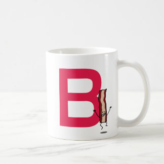 B is for Bacon happy jumping strip abc letter Coffee Mug