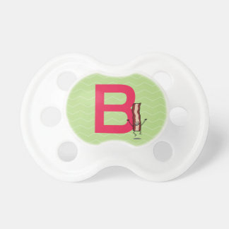 B is for Bacon happy jumping strip abc letter Pacifier