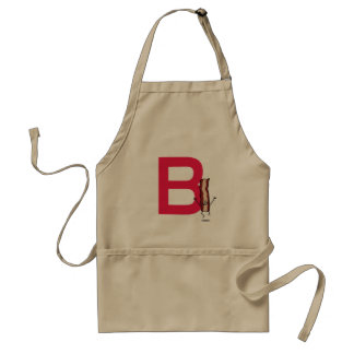 B is for Bacon happy jumping strip abc letter Standard Apron