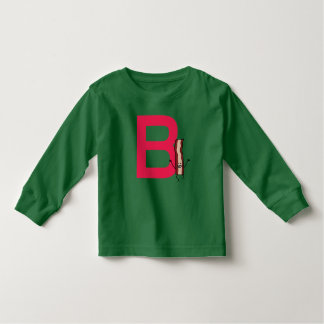 B is for Bacon happy jumping strip abc letter Toddler T-shirt