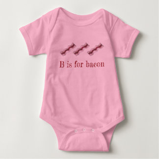 B is for Bacon Sizzling Breakfast Strips Letter B Baby Bodysuit