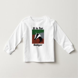 B is for badger toddler t-shirt