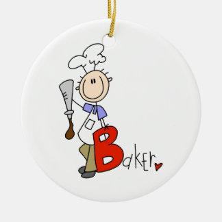 B is for Baker Ceramic Ornament