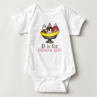 B is for Banana Split Ice Cream Sundae Foodie Baby Bodysuit