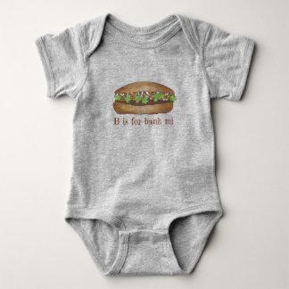 B is for Banh Mi Vietnamese Food Pork Sandwich Baby Bodysuit