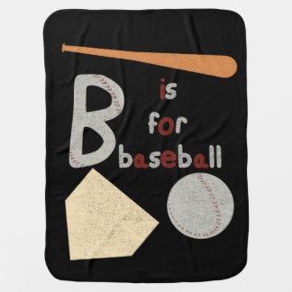 B is for Baseball Stroller Blanket