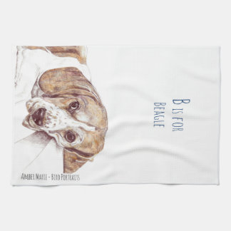 B is for Beagle Kitchen Towel