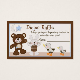 """B is for Bear"" Diaper Raffle Tickets"