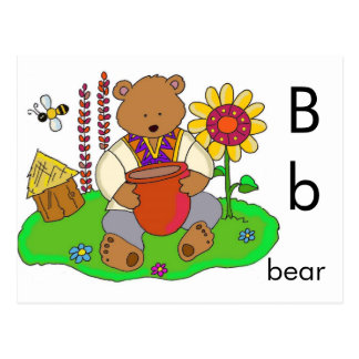 B is for Bear Postcard