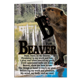 B is for BEAVER Card