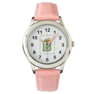 B is for Bee Green Pink Blue Yellow Watch