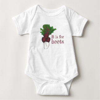 B is for Beets Red Beet Root Vegetable Veggie Baby Bodysuit
