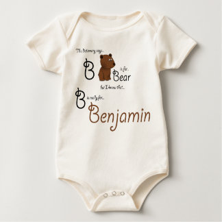 B is for Benjamin, Baby Bear Tee
