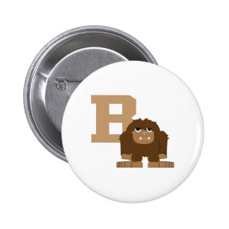 B is for Bigfoot 2 Inch Round Button