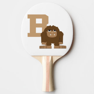 B is for Bigfoot Ping Pong Paddle