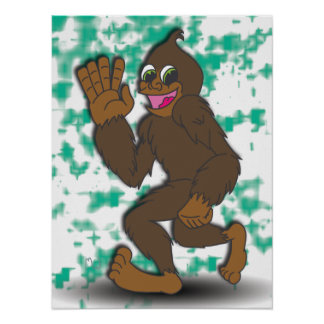 B is for Bigfoot Poster