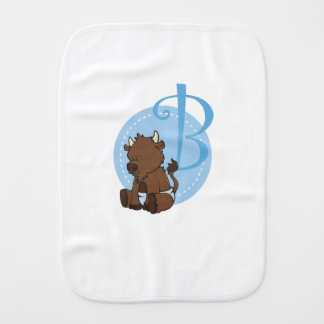 B is for Bison Burp Cloth