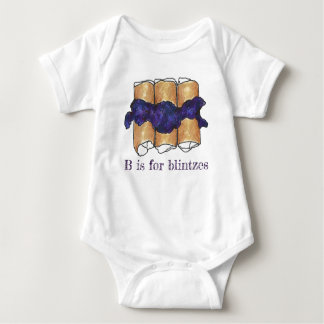 B is for Blintzes Blueberry Blintz Jewish Cuisine Baby Bodysuit