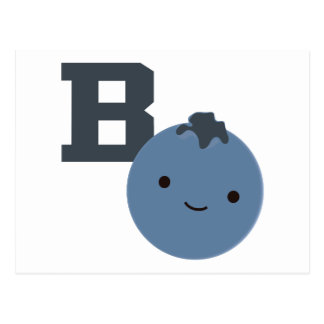 B is for Blueberry Postcard