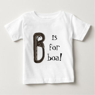 """""""B is for boa!"""" Baby T-Shirt"""