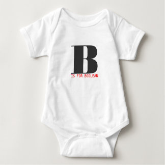 B is for boolean baby bodysuit