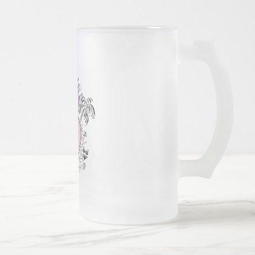 B is for BRIDE PINK Frosted Glass Mug