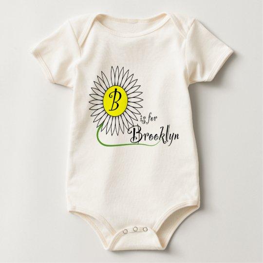 B is for Brooklyn Daisy Baby Bodysuit