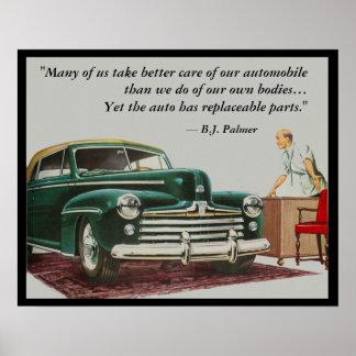 B.J. Palmer Chiropractic Saying Poster Customize