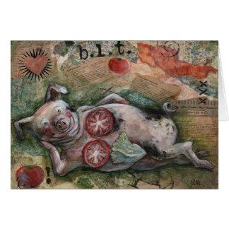"""""""B.L.T. & A."""", a saucy piggy greeting card"""