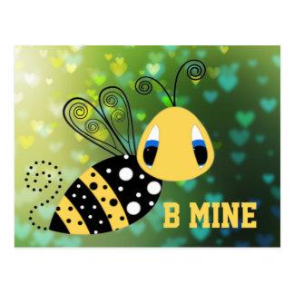 B Mine Bubble Bee Postcard