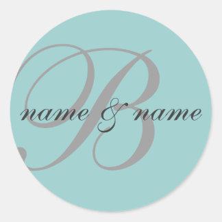 """B"" monogram label - personalize"