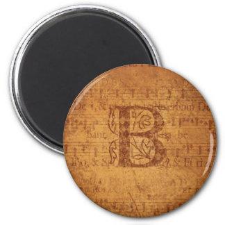 B Monogram Magnet