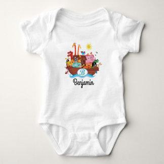 B Monogram Noah's Ark Personalized Baby T-shirt