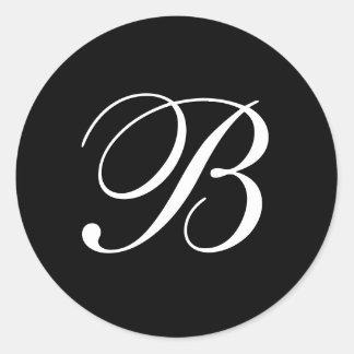 B Monogram Stickers