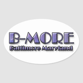 B-MORE Baltimore Maryland Logo Oval Sticker