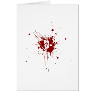 B Negative Blood Type Donation Vampire Zombie Card