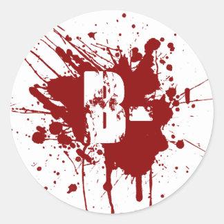 B Negative Blood Type Donation Vampire Zombie Stickers